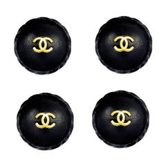 Huge Rare Chanel Leather Buttons