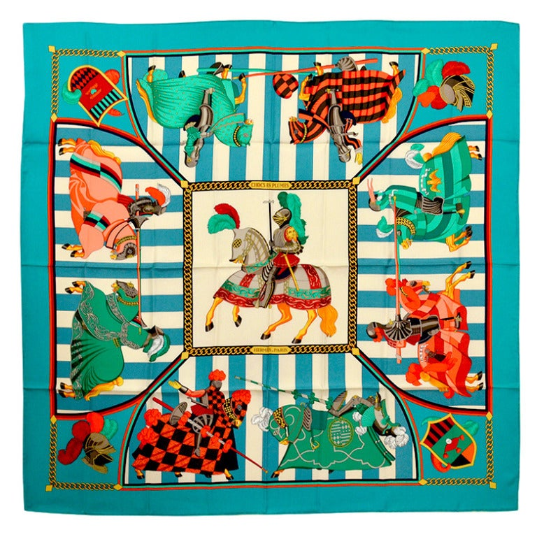 Gorgeous Hermes Chocs En Plumes Silk Scarf For Sale