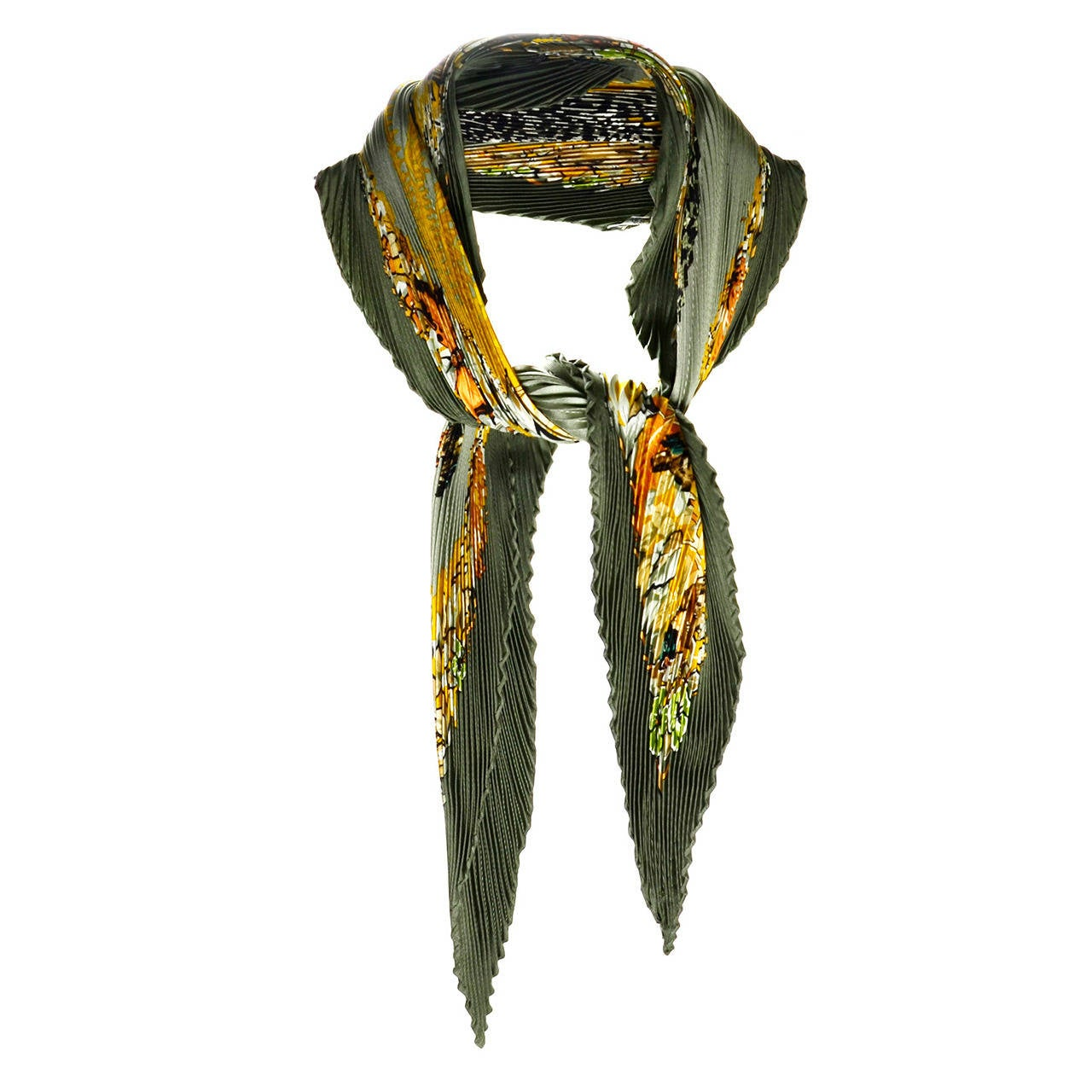 hermes jungle pliss 233 silk scarf at 1stdibs