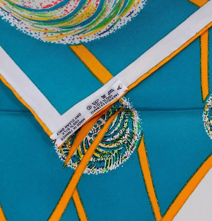 Women's Gorgeous Hermes Les Feux De L'Espace Silk Scarf For Sale