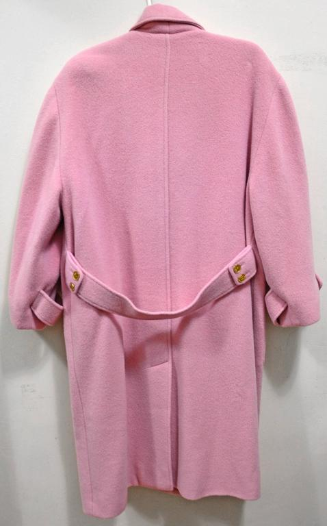 Gorgeous Pink Chanel Full Length Wool & Cashmere Coat 2