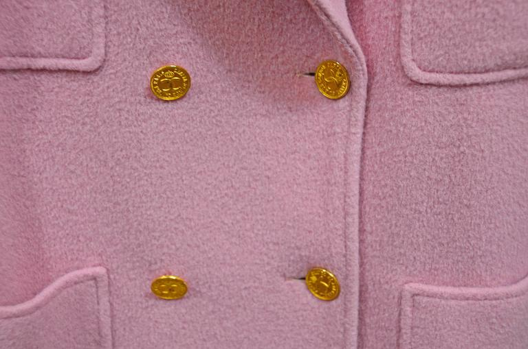 Gorgeous Pink Chanel Full Length Wool & Cashmere Coat 3