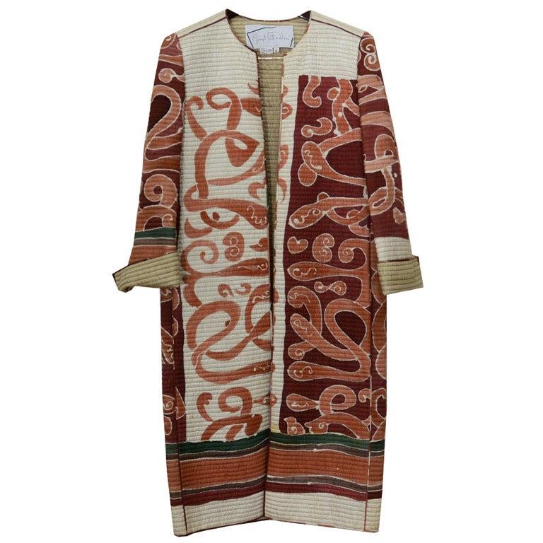 Mary McFadden Hand Painted Coat