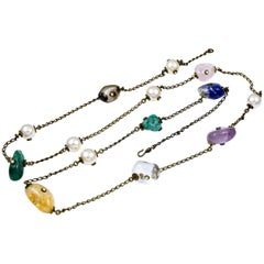 Chanel Semi-Precious Stone Long Necklace