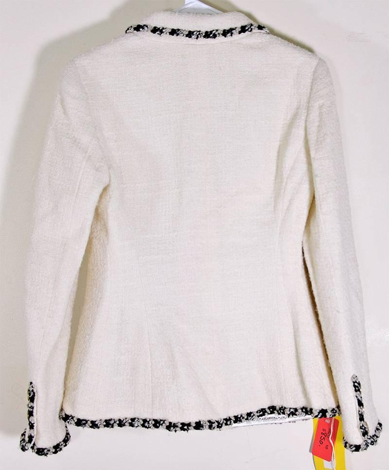 Iconic Chanel Boucle Jacket at 1stdibs