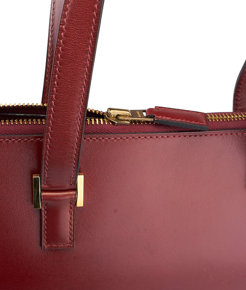 2007 Hermes Maroon Leather Escapade Small Tote Bag For Sale at 1stdibs