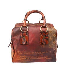 2007 Louis Vuitton Limited Edition Richard Prince Mancrazy Jokes Tote