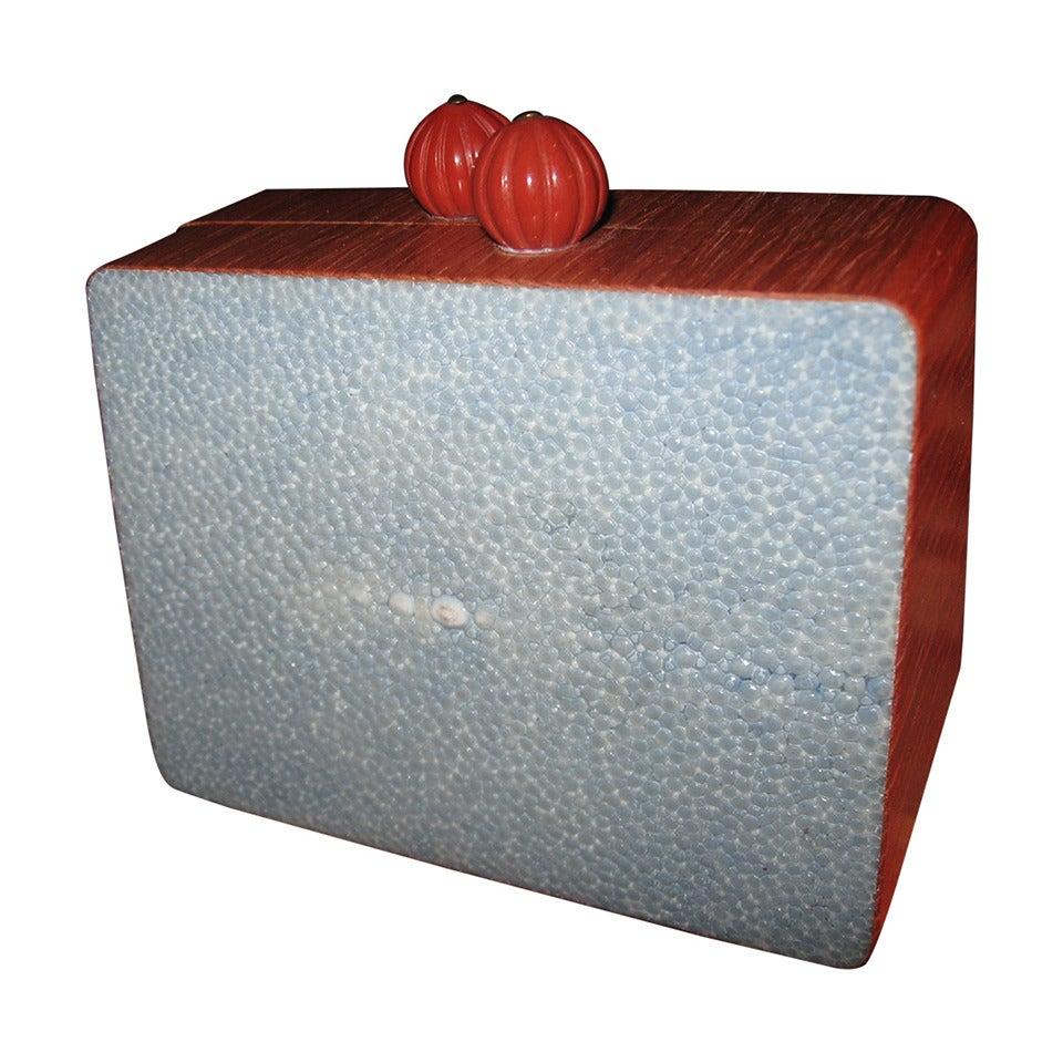 Celestina Stingray Wood Clutch Evening Bag