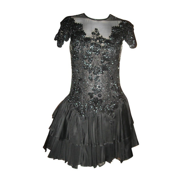 Eavis & Brown Beaded Evening Dress