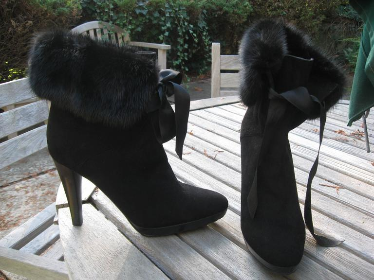 Valentino Suede and Fox Boot 2