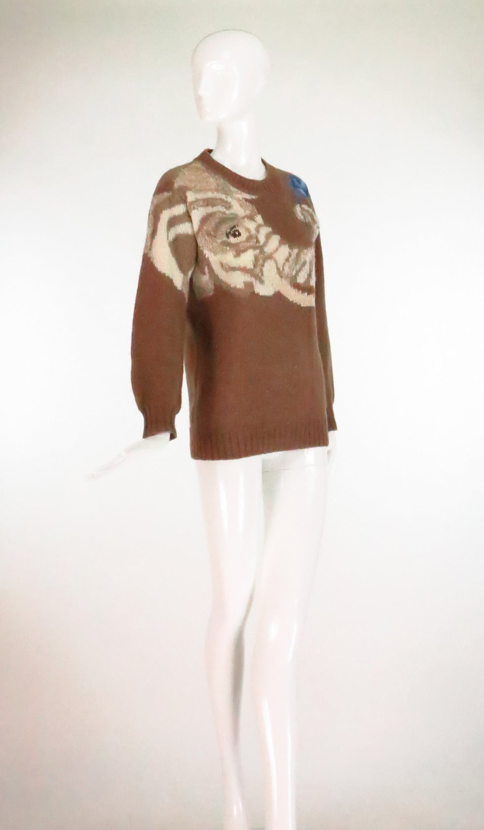 Knitting Jumpers For Elephants Fake : S krizia maglia gentle elephant with flower knit