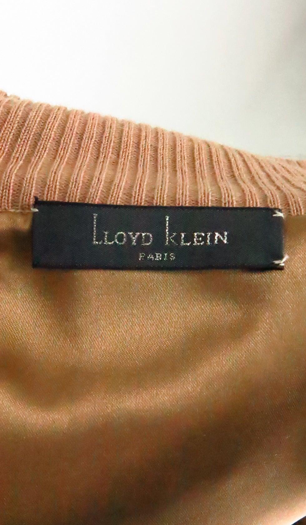 1990s Lloyd Klein Paris stenciled leopard fur sweater For Sale 4