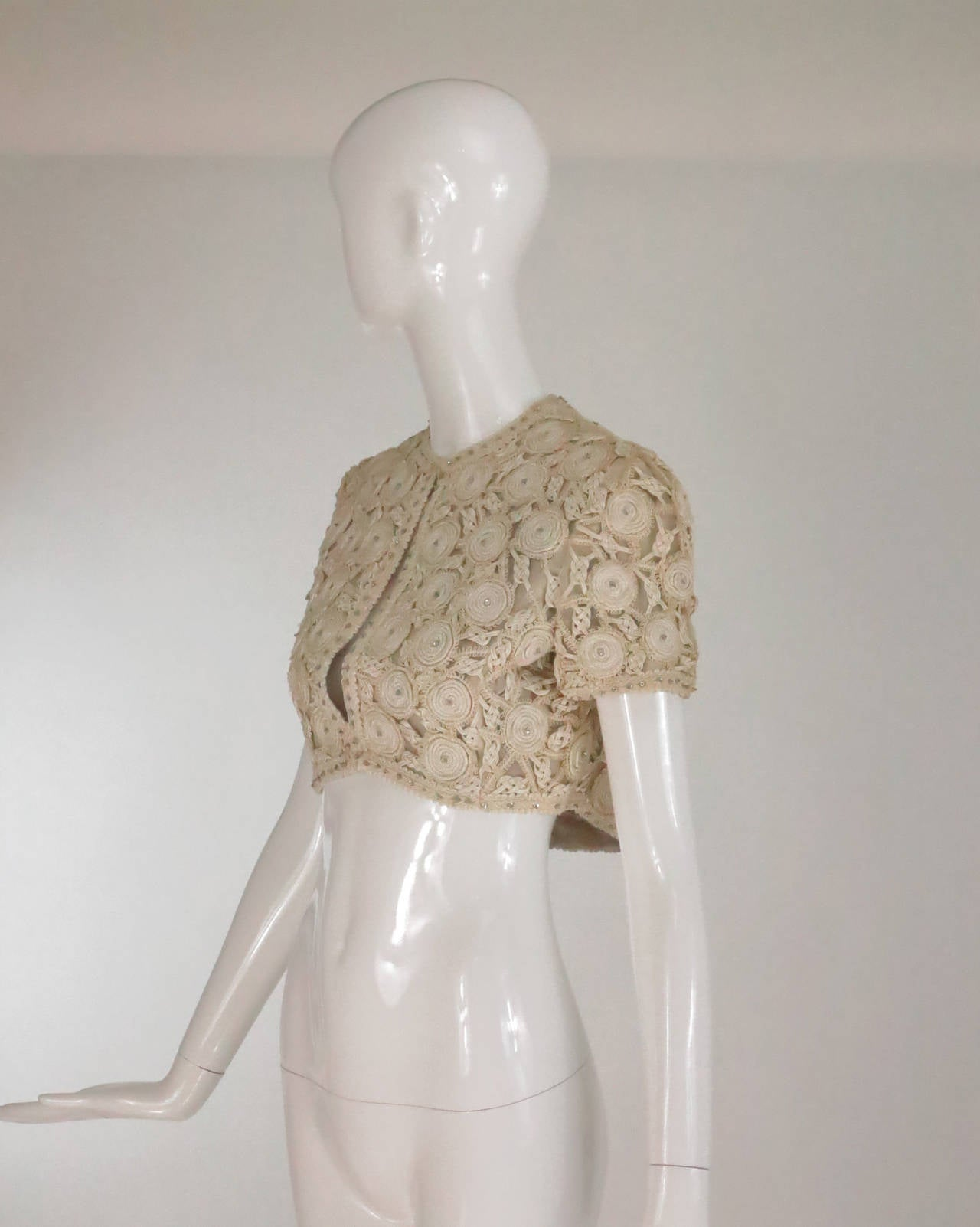 Rare Malcolm Starr corded cropped lace jacket 1960s 3