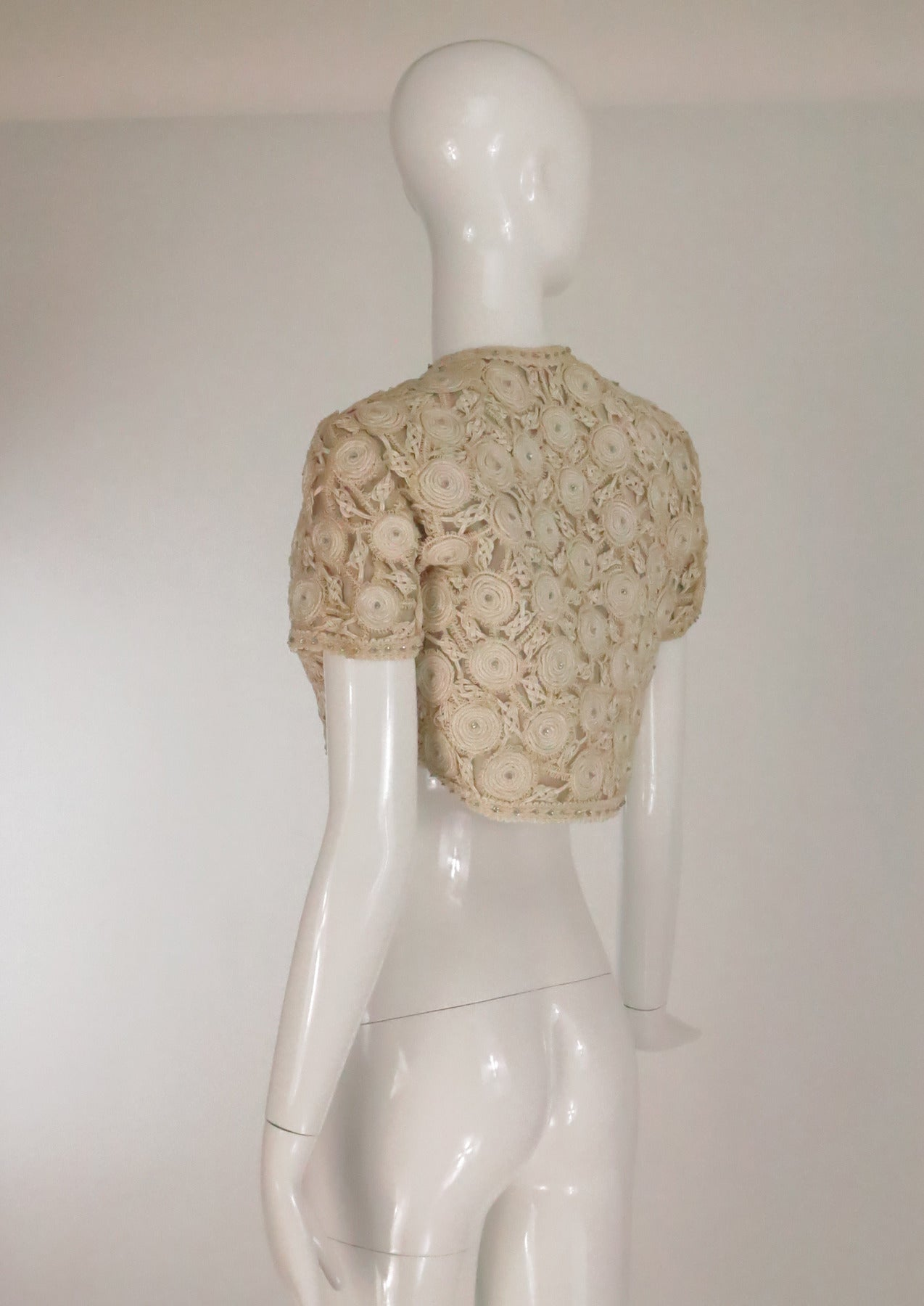 Rare Malcolm Starr corded cropped lace jacket 1960s 4