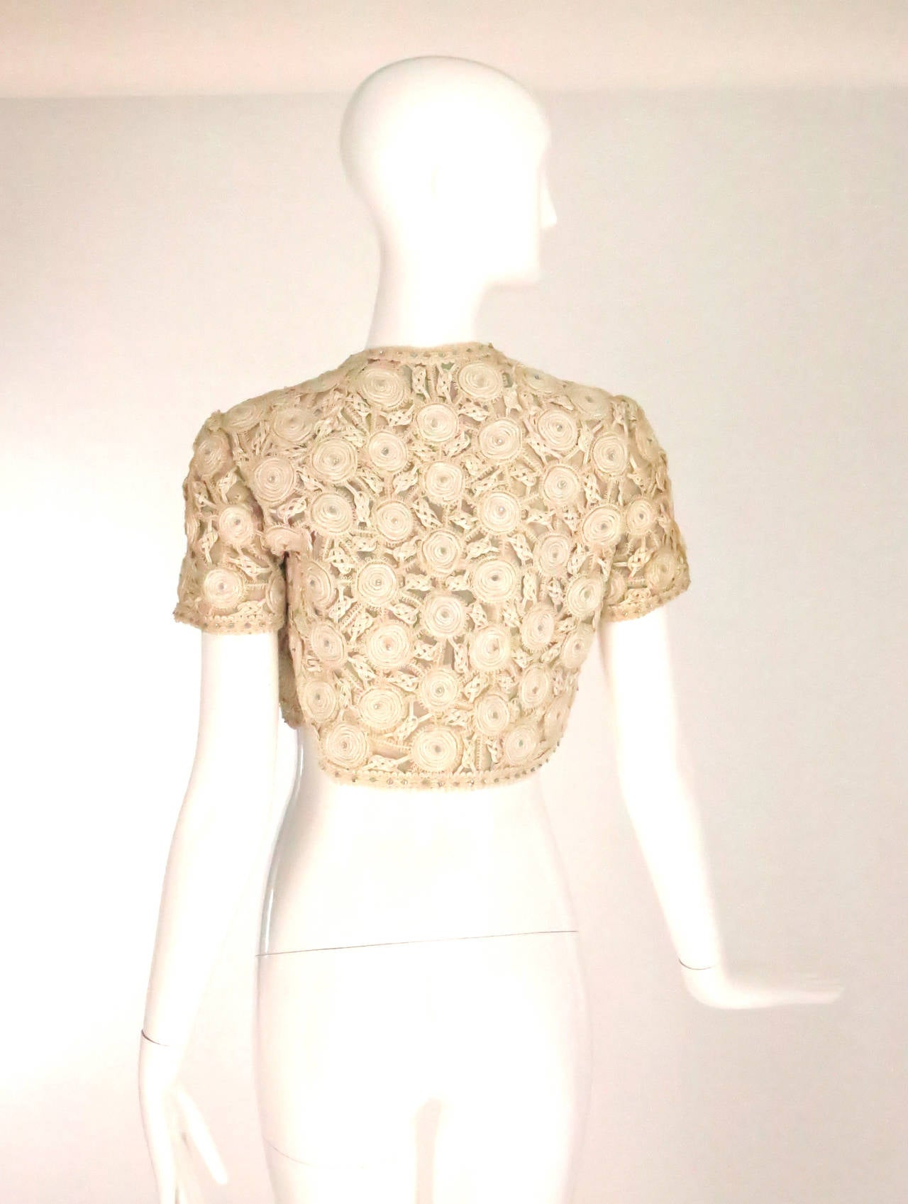 Rare Malcolm Starr corded cropped lace jacket 1960s 5