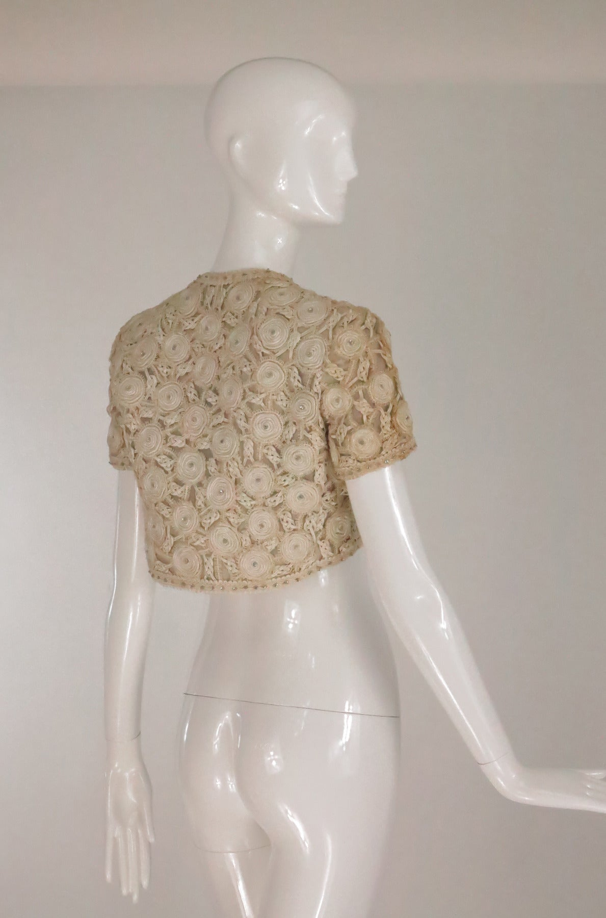 Rare Malcolm Starr corded cropped lace jacket 1960s 7