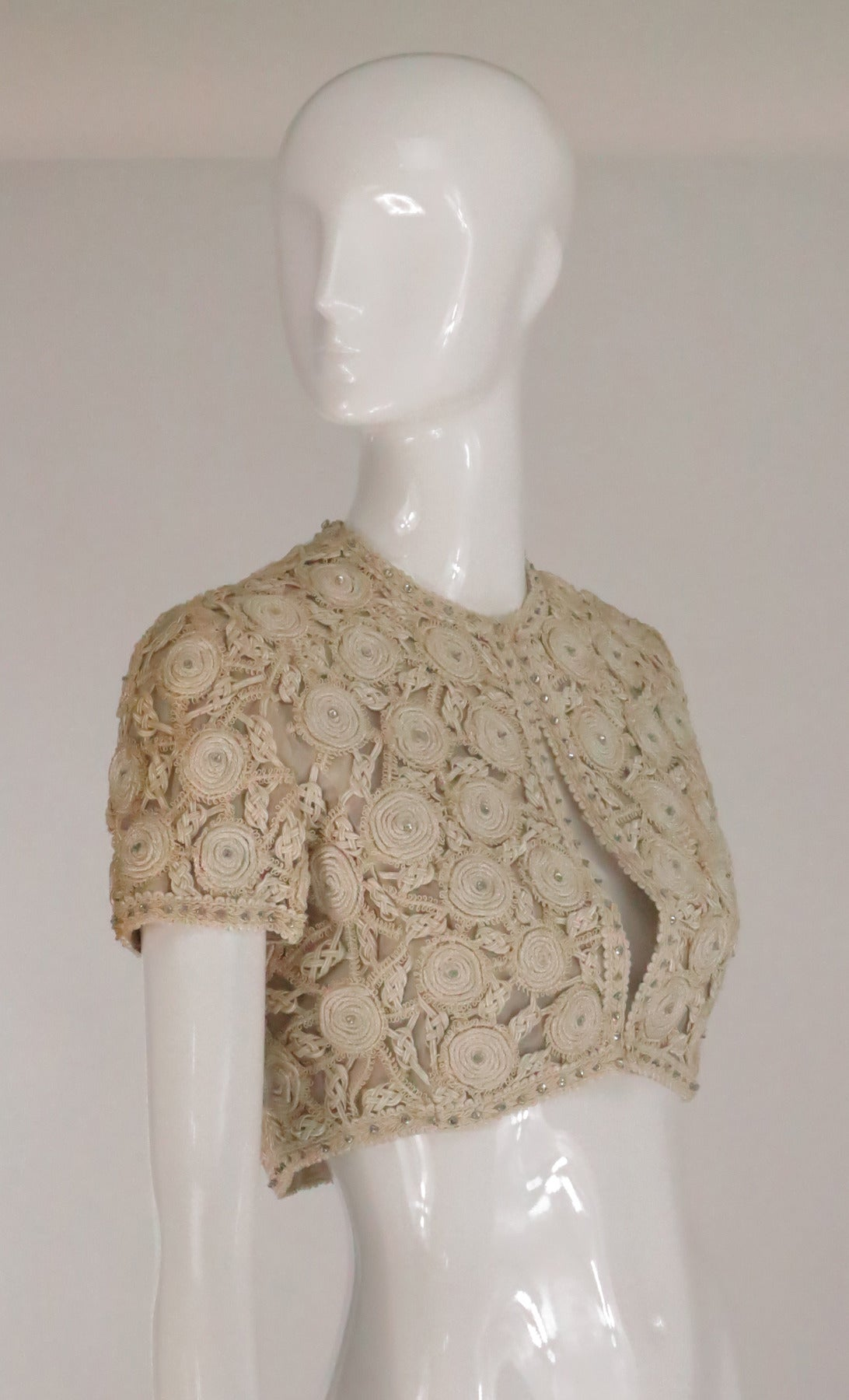 Rare Malcolm Starr corded cropped lace jacket 1960s 8