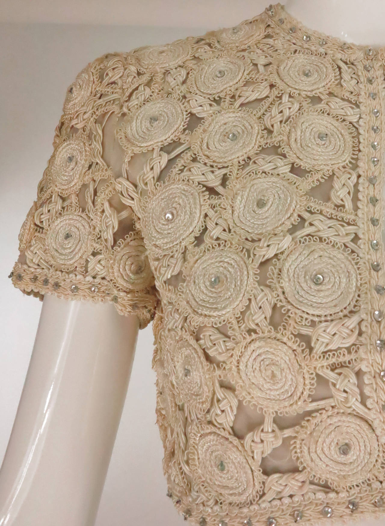 Rare Malcolm Starr corded cropped lace jacket 1960s 9