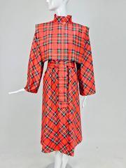 Vintage Pauline Trigere novelty palid light weight rain coat 1980s