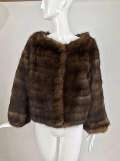 Natural sable jacket S J Glaser furs New York 1960s