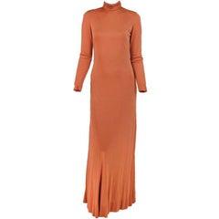 Christian Dior New York silk jersey maxi dress 1970s