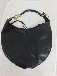 Gucci Black Leather shoulder bag with gold hardware