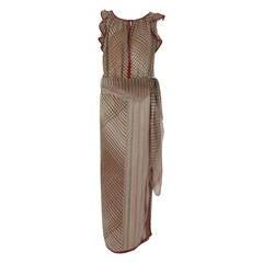 James Galanos 1960s printed silk dress & large scarf
