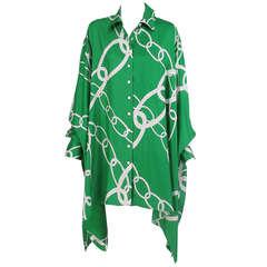 Douglas Hannant silk bat wing tunic/shirt