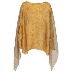 Shamask paisley silk chiffon tunic/top