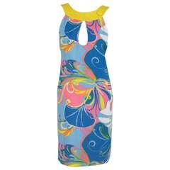 1960s  Pierre Cardin Mod linen butterfly print dress