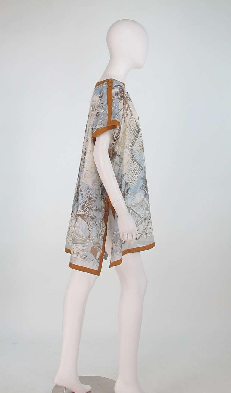 Hermes NWT Aloha tropical cotton caftan tunic 3