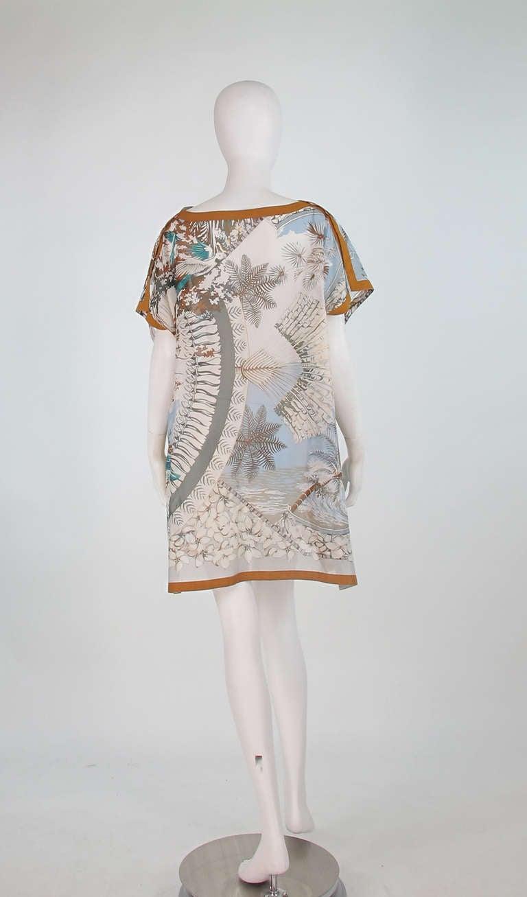 Hermes NWT Aloha tropical cotton caftan tunic 5