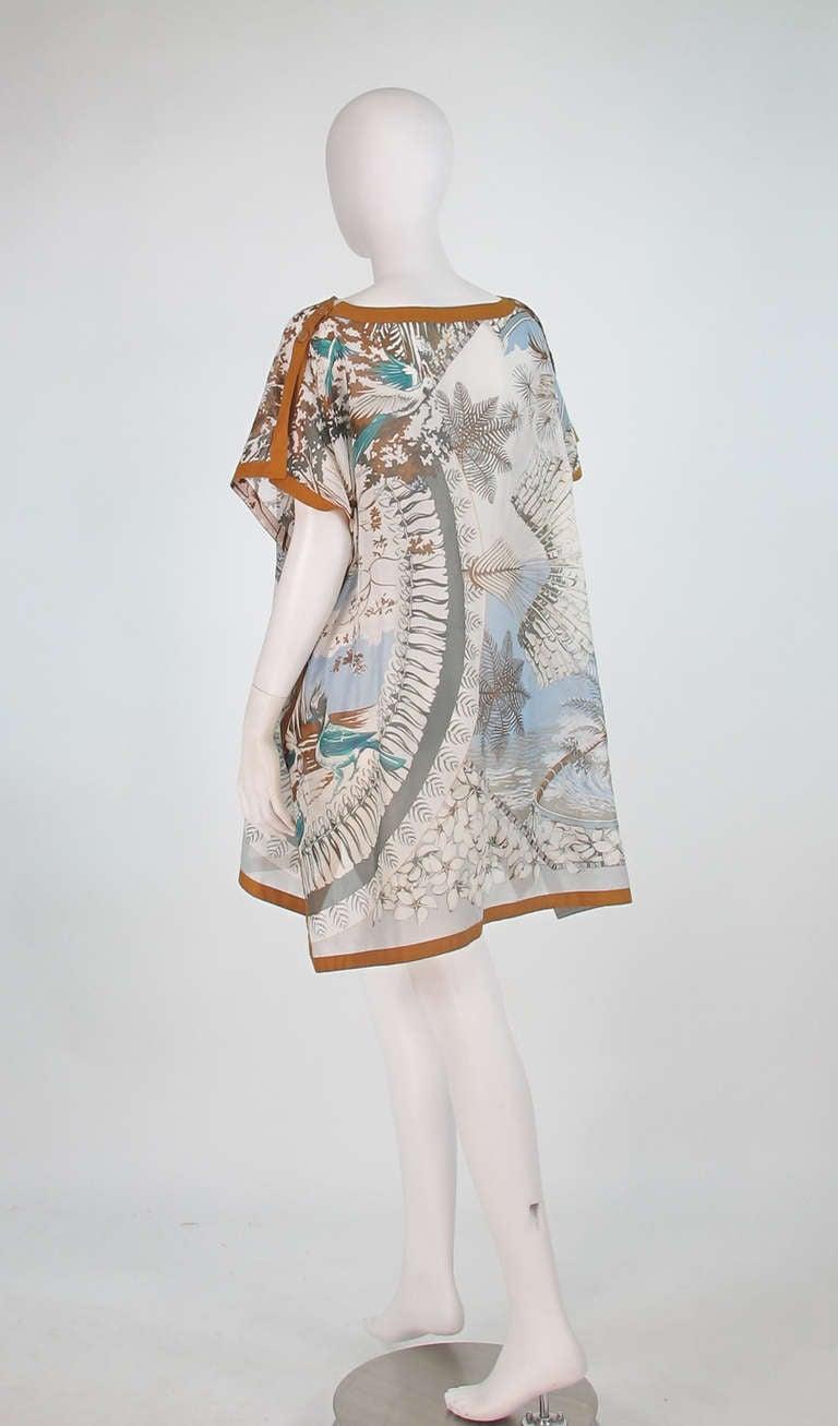 Hermes NWT Aloha tropical cotton caftan tunic 6