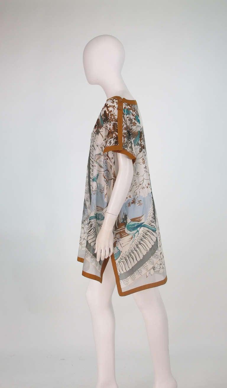 Hermes NWT Aloha tropical cotton caftan tunic 7
