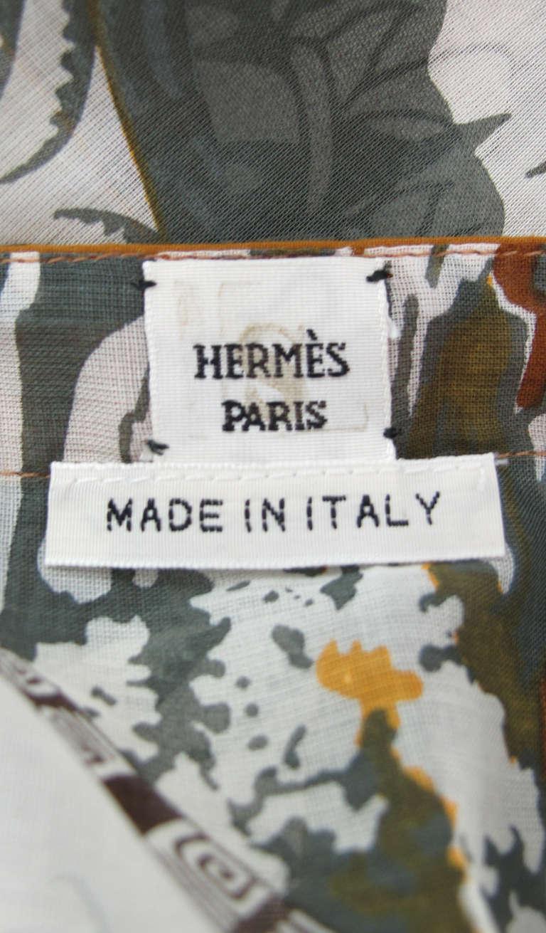 Hermes NWT Aloha tropical cotton caftan tunic 10