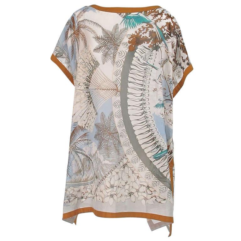 Hermes NWT Aloha tropical cotton caftan tunic 1