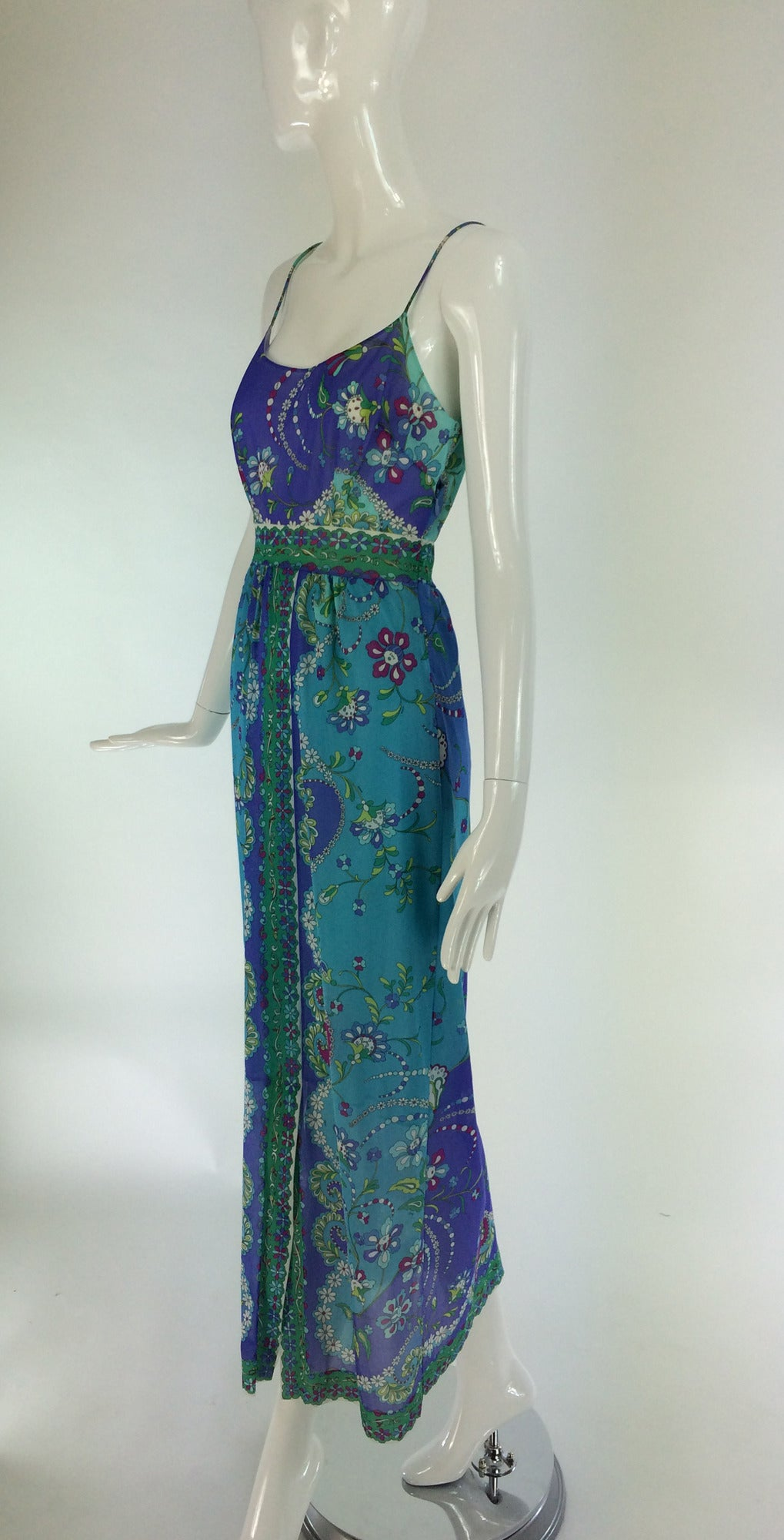 Women's 1960s Emilio Pucci for Formfit Rogers at home gown For Sale