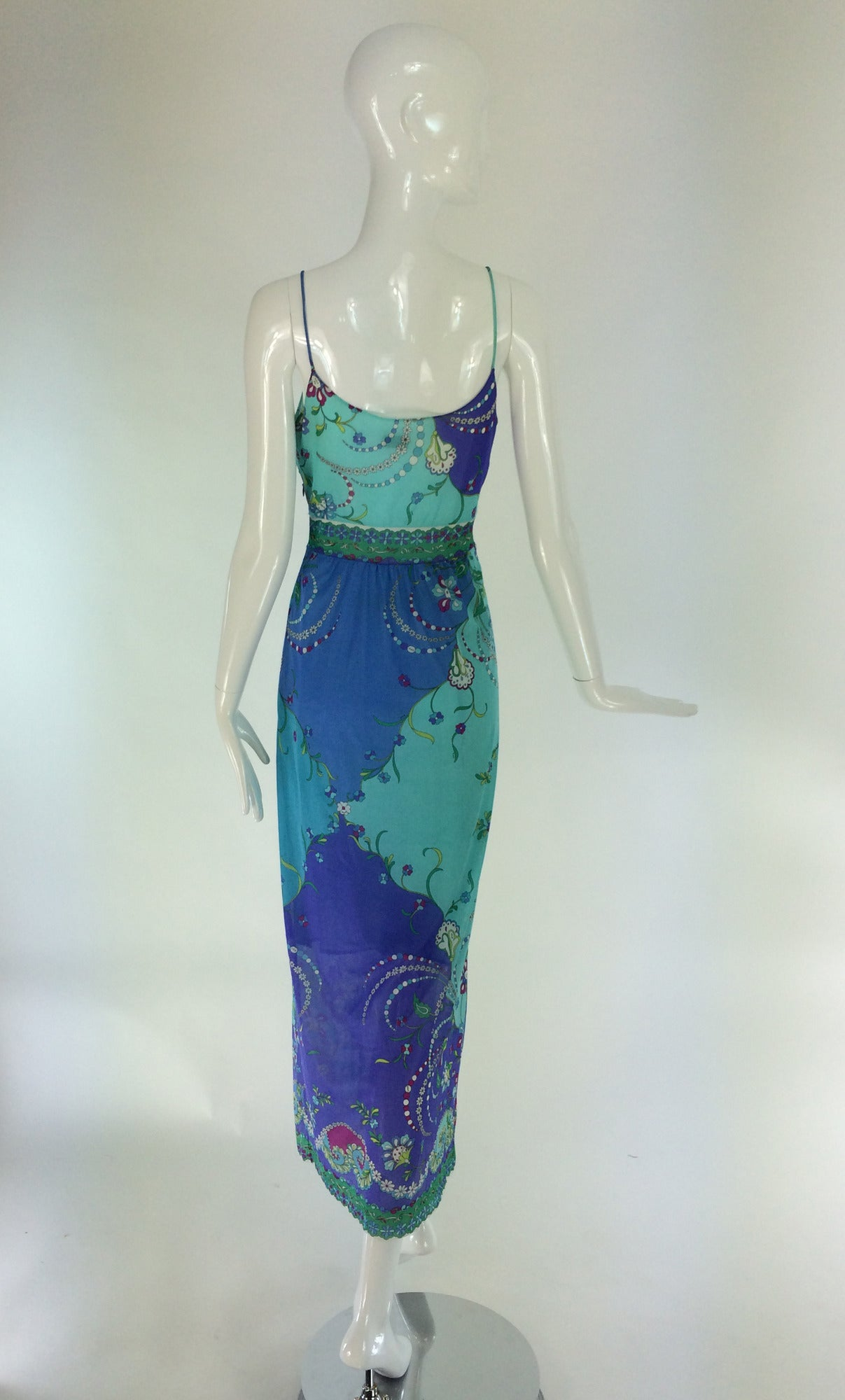 1960s Emilio Pucci for Formfit Rogers at home gown For Sale 2