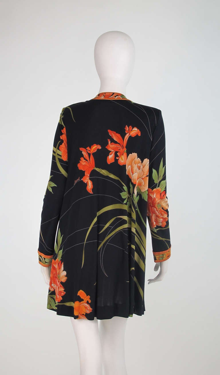 1970s Leonard Paris Tiger Lilly silk coat 5