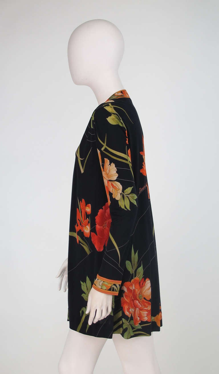 1970s Leonard Paris Tiger Lilly silk coat 7