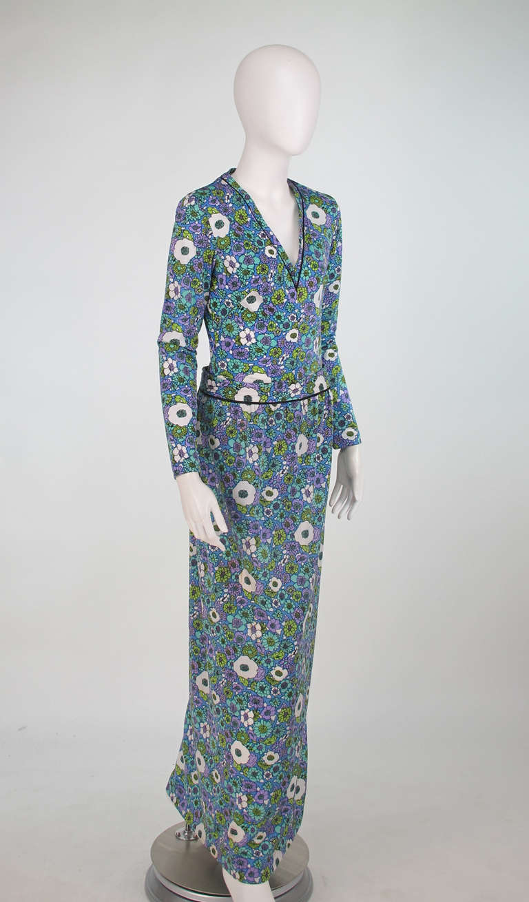 1960s Donald Brooks swimsuit/playsuit with matching skirt