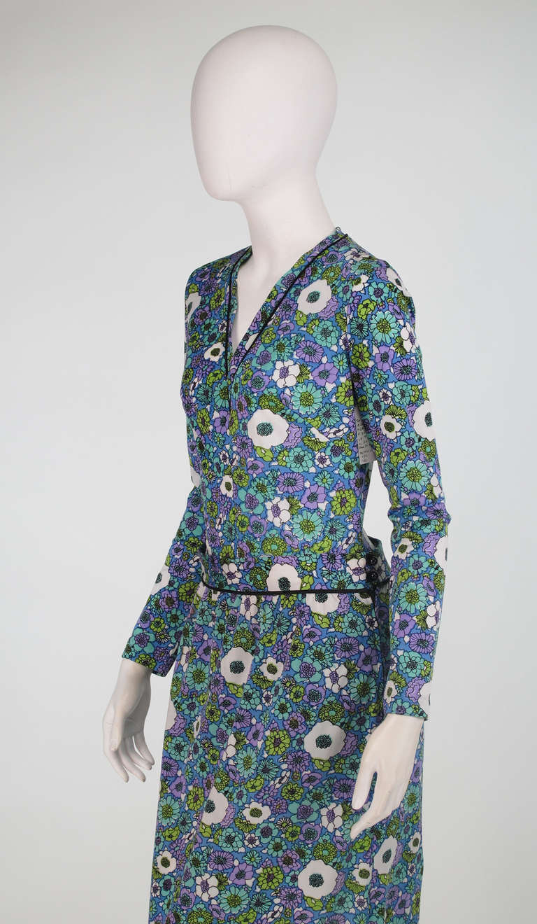 1960s Donald Brooks swimsuit/playsuit with matching skirt For Sale 3