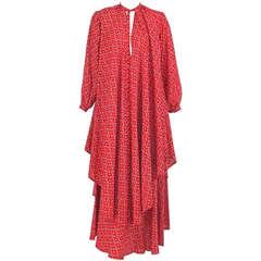 1970s Julio New York silk floral tunic & skirt