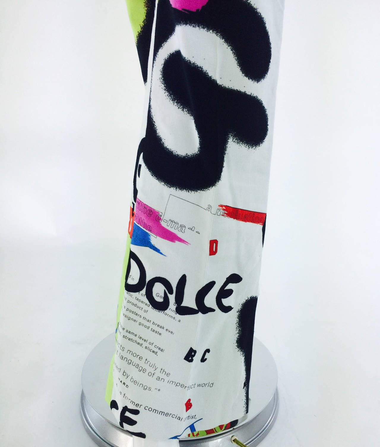 1990s Dolce & Gabbana grafitti trousers 28/42 9