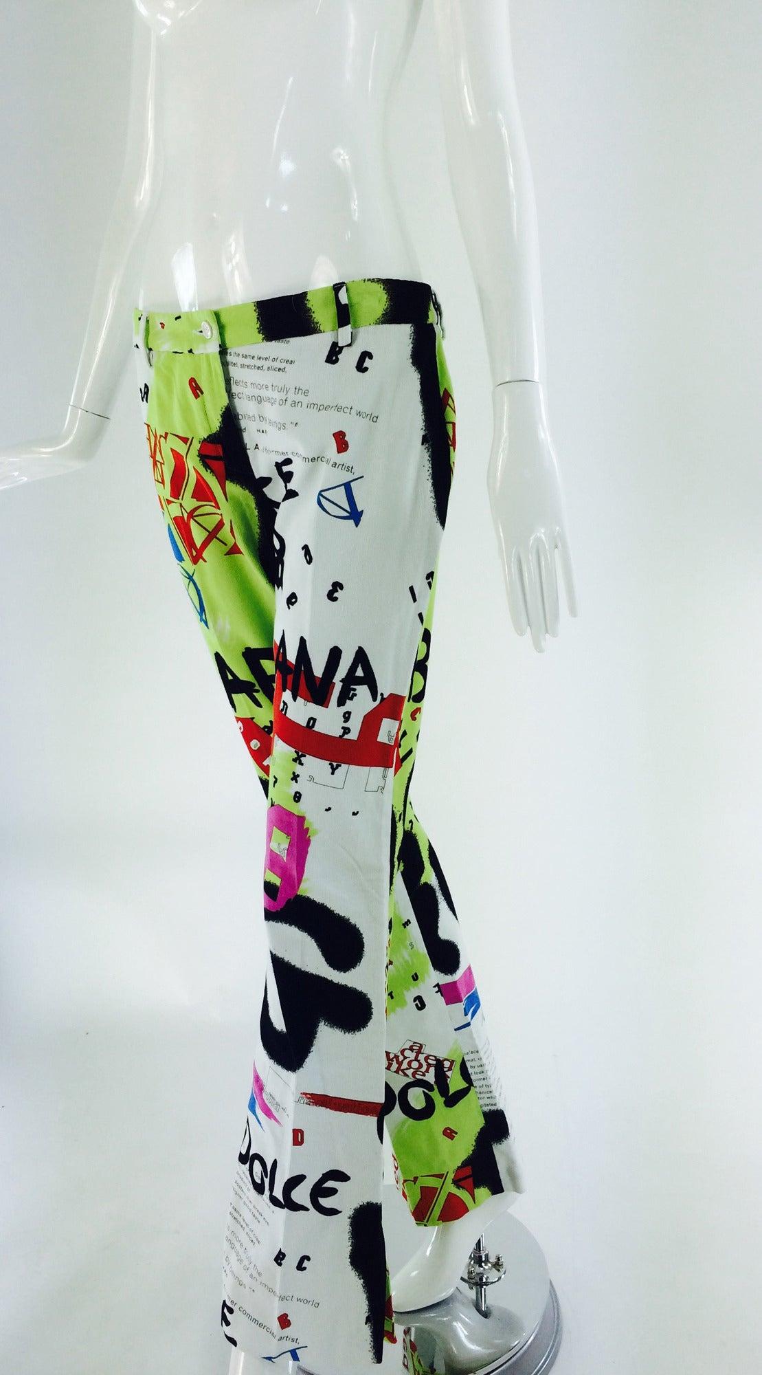 1990s Dolce & Gabbana grafitti trousers 28/42 8