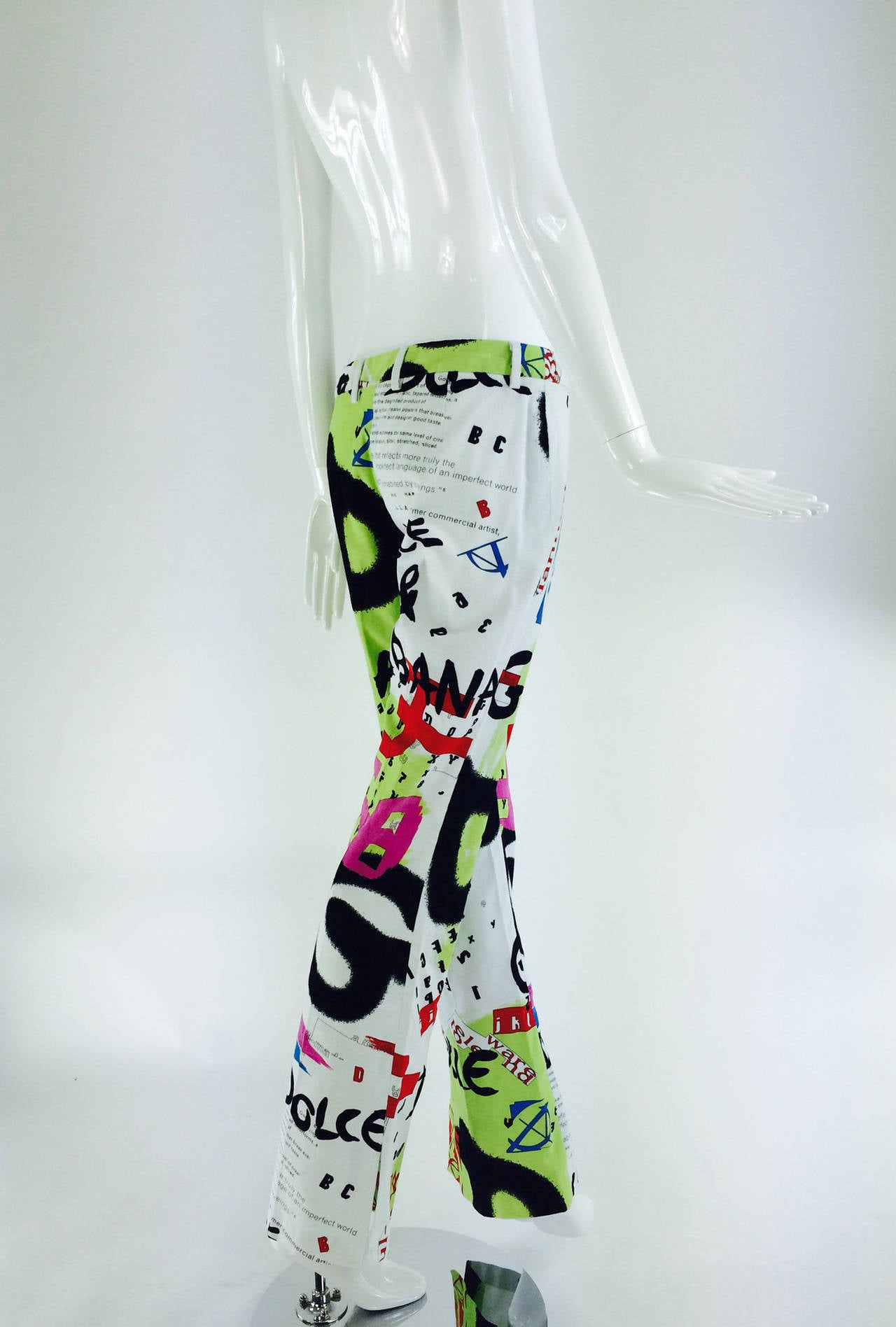 1990s Dolce & Gabbana grafitti trousers 28/42 5