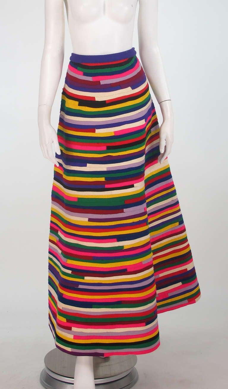 1950s artist made pieced felt maxi skirt 2