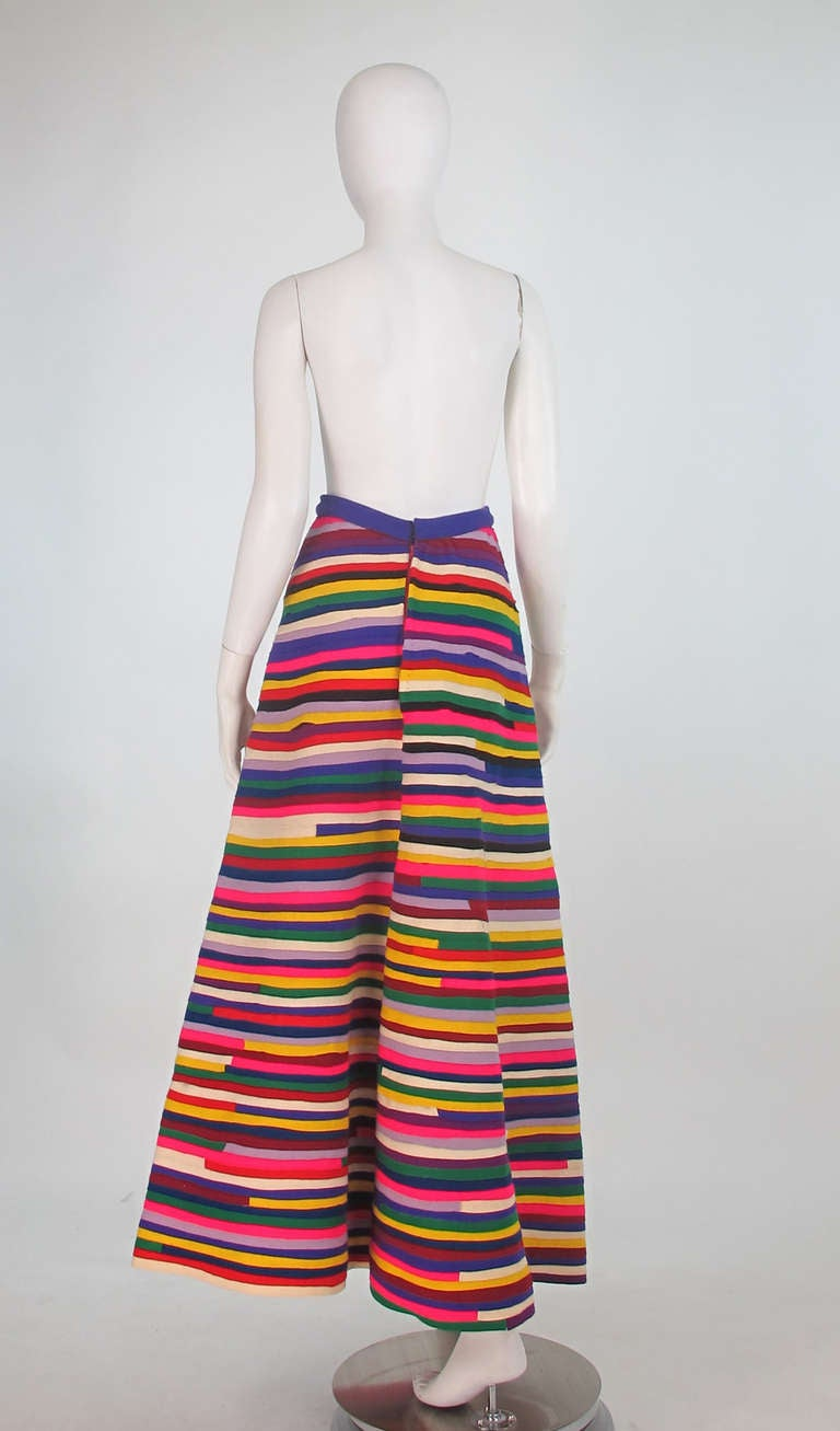 1950s Artist Made Pieced Felt Maxi Skirt At 1stdibs