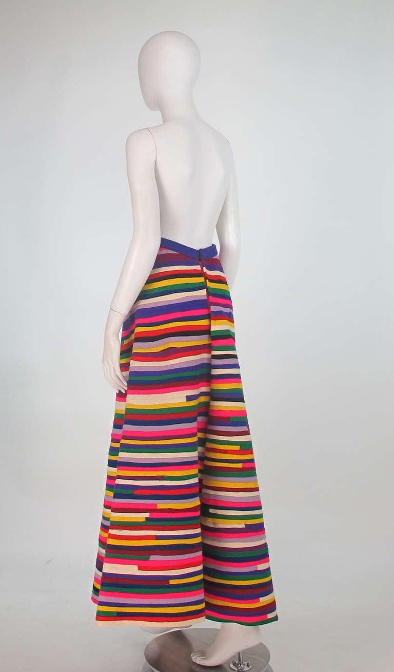 1950s artist made pieced felt maxi skirt 7