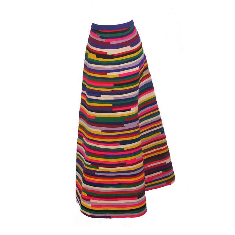 1950s artist made pieced felt maxi skirt 1